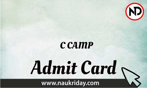 C-CAMP Admit Card download pdf call letter available get hall ticket