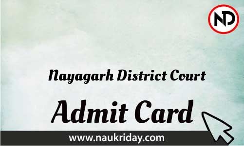 Nayagarh District Court Admit Card download pdf call letter available get hall ticket