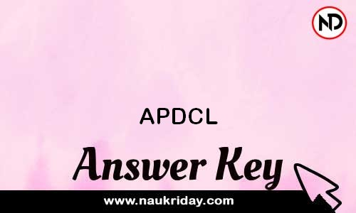 APDCL   answer key, Exam key, Paper Solutions download pdf online naukriday