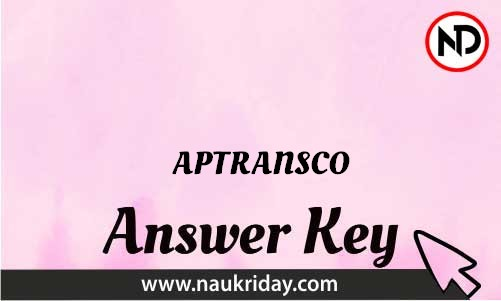 APTRANSCO Download answer key paper key exam key online in pdf