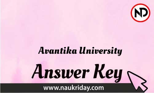 Avantika University Download answer key paper key exam key online in pdf