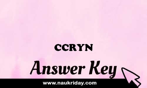 CCRYN answer key paper exam solution pdf notification online