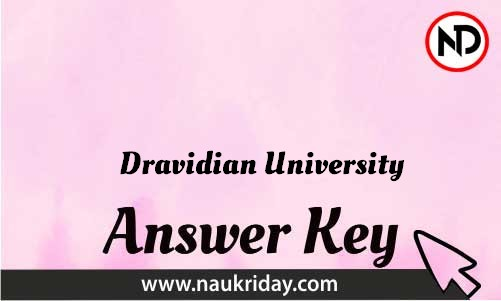 Dravidian University Download answer key paper key exam key online in pdf