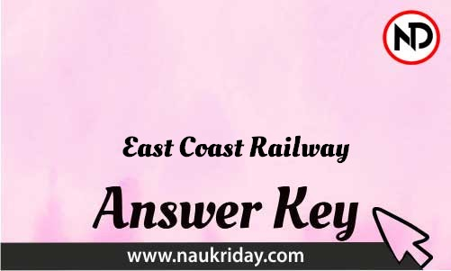 East Coast Railway Download answer key paper key exam key online in pdf