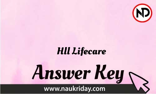 Hll Lifecare Download answer key paper key exam key online in pdf