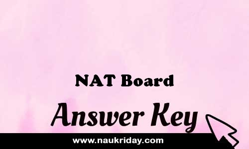NAT Board answer key paper exam solution pdf notification online