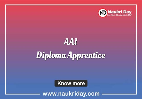 AAI Diploma Apprentice  Recruitment notification pdf download online