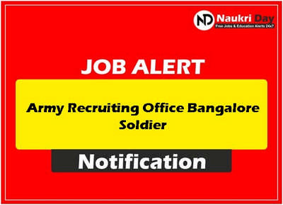 Army Recruiting Office Bangalore Soldier download full pdf job recruitment notification 2021