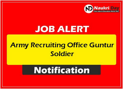 Army Recruiting Office Guntur Soldier download full pdf job recruitment notification 2021