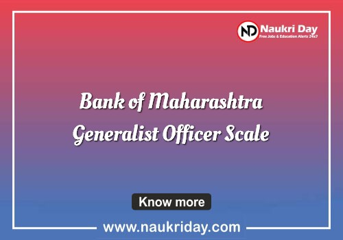 Bank of Maharashtra Generalist Officer Scale Recruitment notification pdf download online