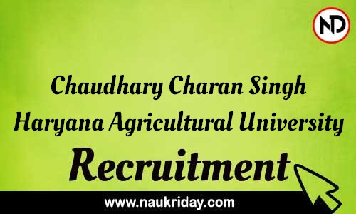 Chaudhary Charan Singh Haryana Agricultural University recruitment notifications pdf download online
