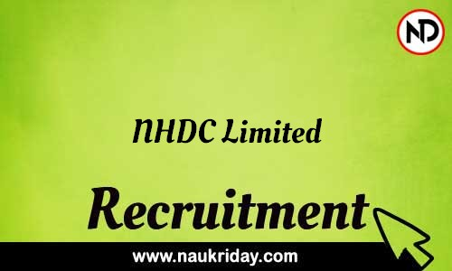 NHDC Limited recruitment notifications pdf download online