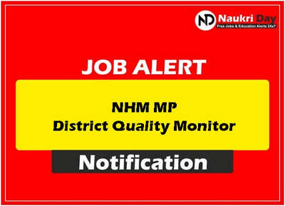 NHM MP District Quality Monitor download full pdf job recruitment notification 2021