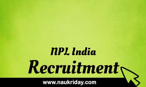 NPL India Recruitment Bharti Sarkari Naukri Notification pdf download online