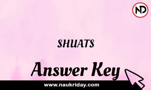 SHUATS Answer key Exam Key Paper solutions download pdf online