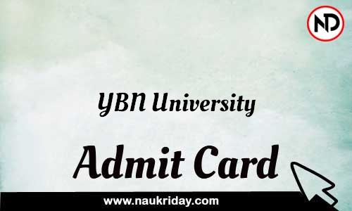 YBN University Admit Card Call letter Hall Ticket download pdf online