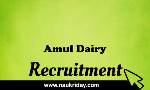 Amul Dairy recruitment government govt job vacancy notification apply online