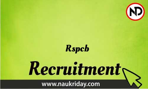 Rspcb Recruitment Bharti post Sarkari Naukri Job Vacancy Notification available online