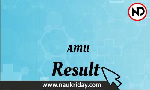 AMU download Result pdf available online