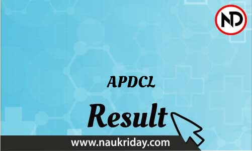 APDCL   Result, Merit List, Cutoff list download pdf online naukriday