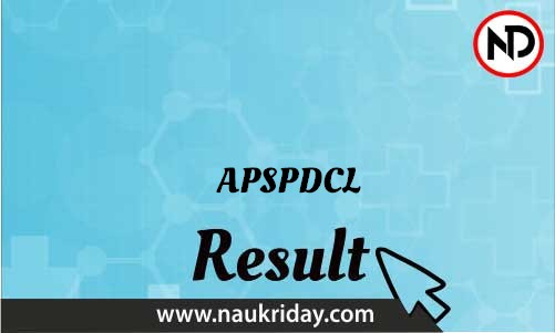 APSPDCL download Result pdf available online