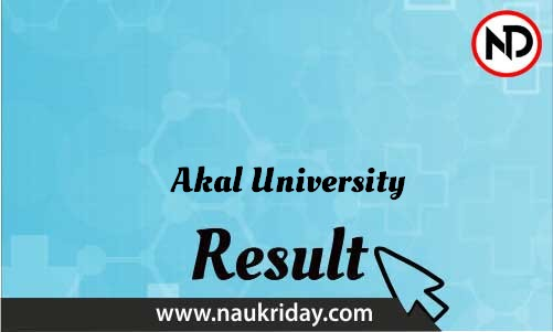 Akal University download Result pdf available online