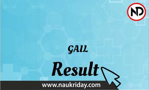 GAIL download Result pdf available online