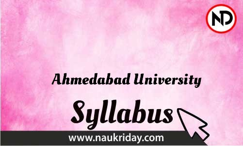 Ahmedabad University download syllabus and exam pattern pdf online